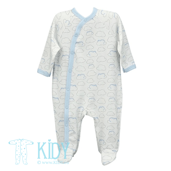 White PIKSY sleepsuit