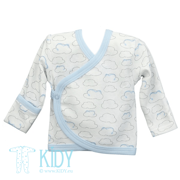 Blue easy shirt PIKSY with mitts