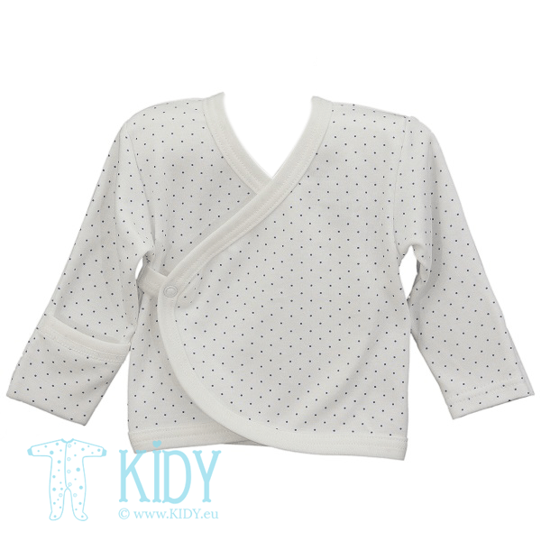 White easy shirt PIKSY with mitts