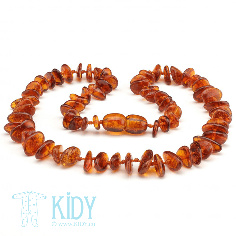 Amber nacklace COGNAC