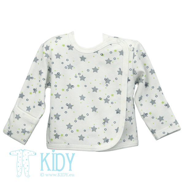 White STARS easy shirt with mitts