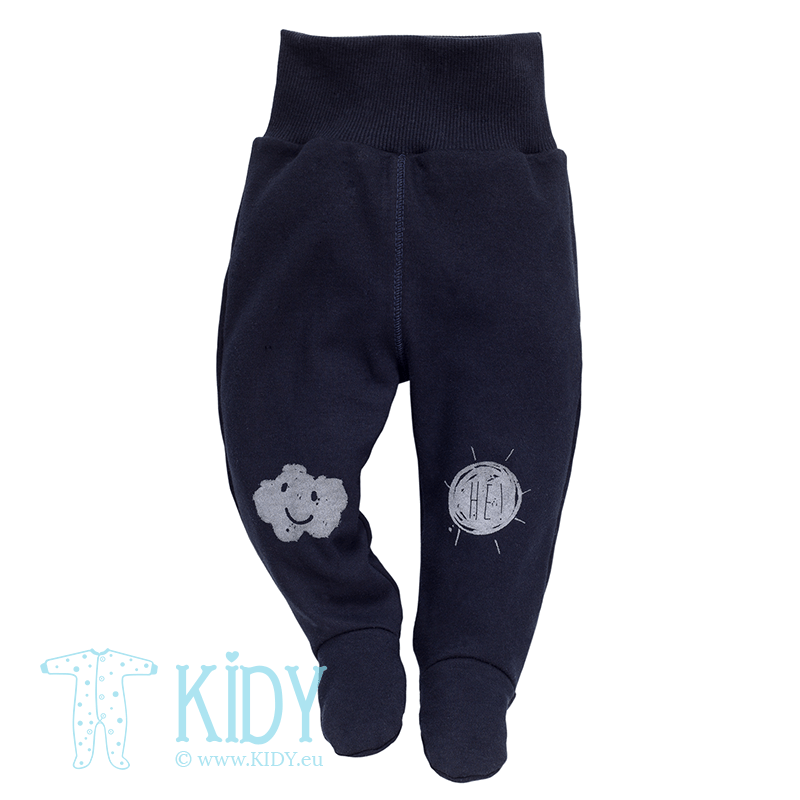 Navy XAVIER footed pants