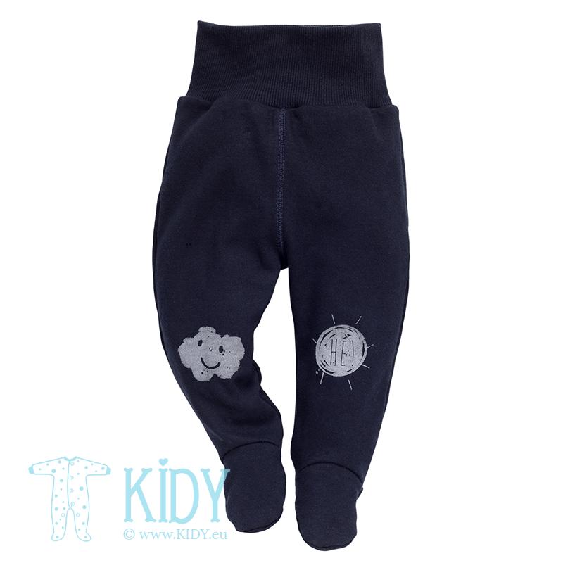 Navy XAVIER footed pants (Pinokio)