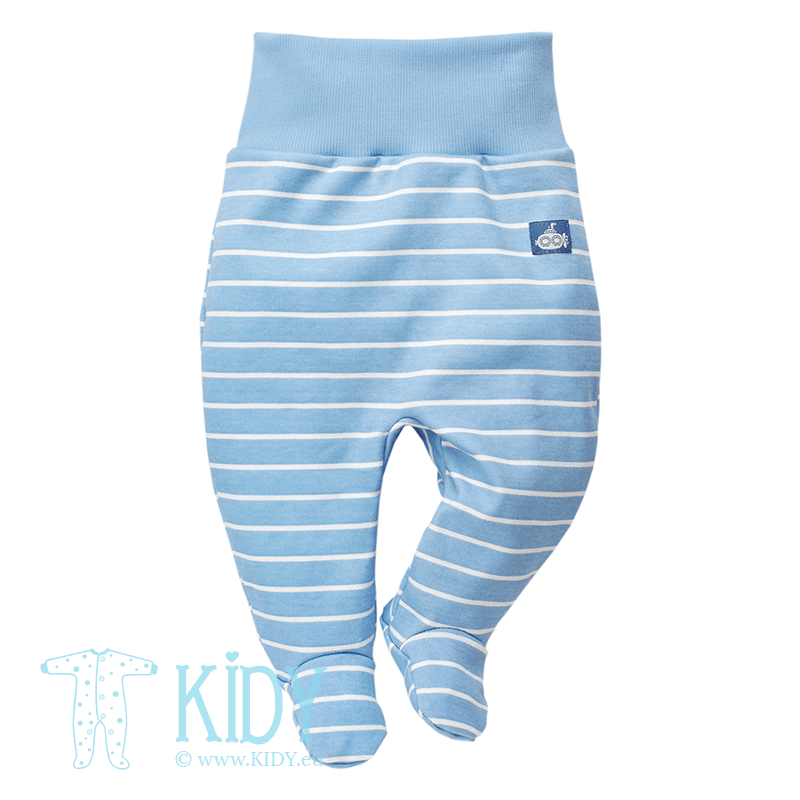 Blue SEA WORLD footed pants