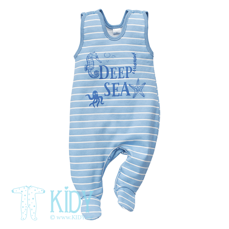 Blue SEA WORLD dungaree