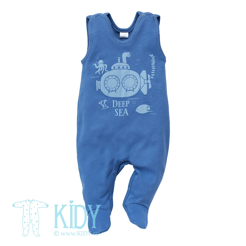 Navy SEA WORLD dungaree