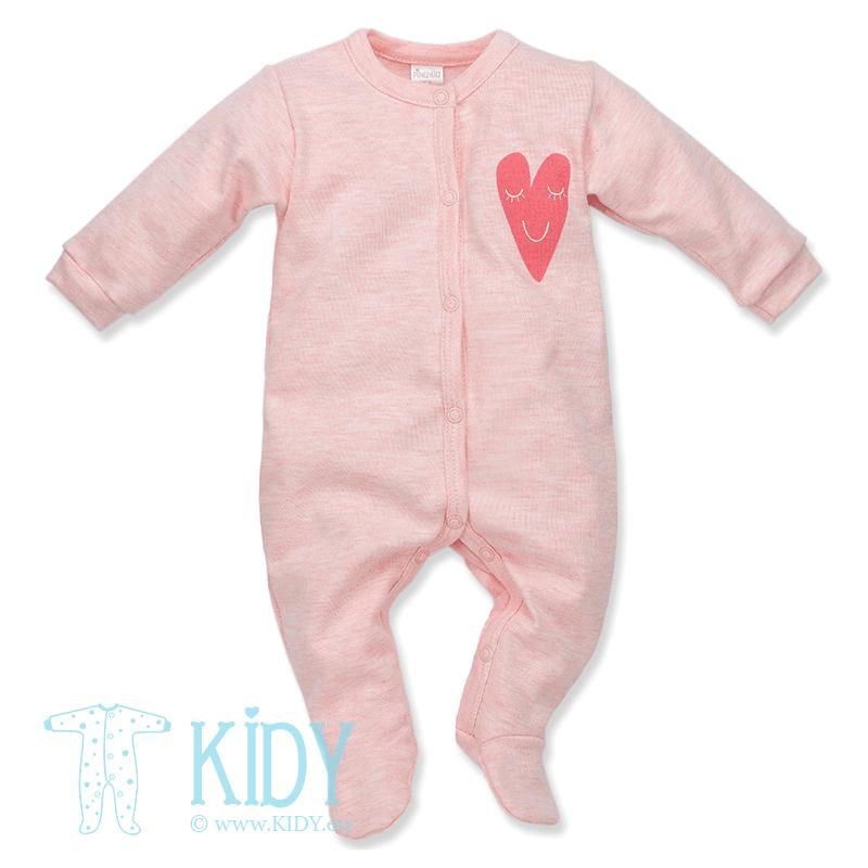 Rožinis kombinezonas-pižama LOVE SUMMER