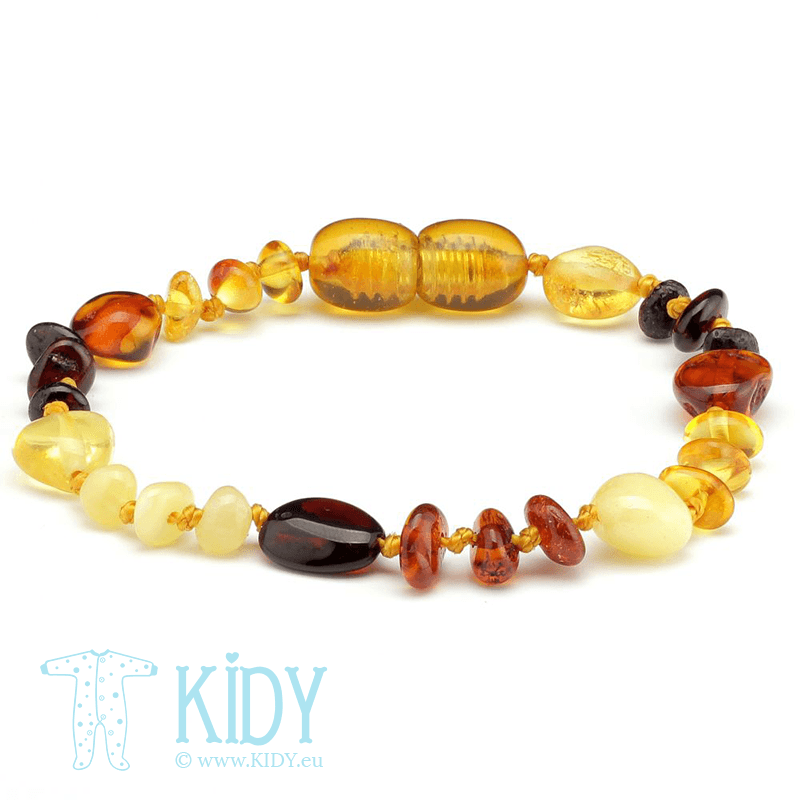 Amber teething bracelet MULTI