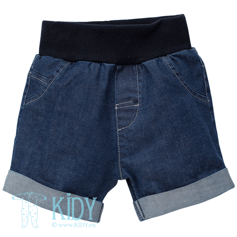 Navy SEA WORLD shorts