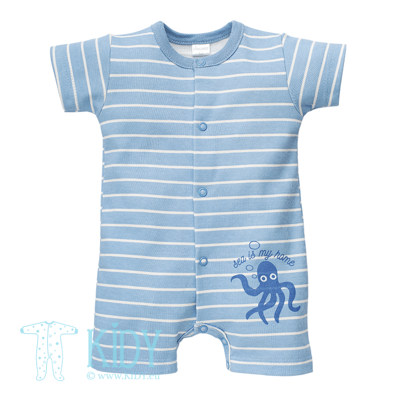 Blue SEA WORLD romper