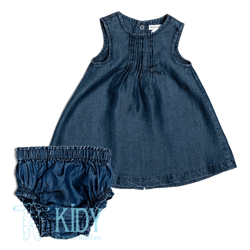 Denim BUTTERFLY dress with knicker