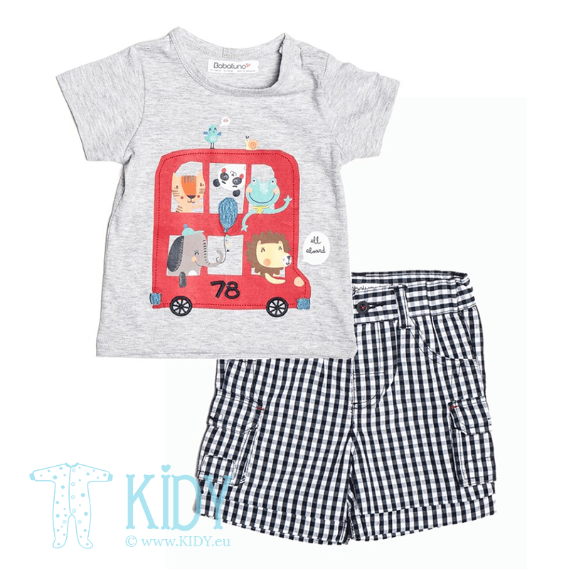 ALL ABOARD TRANSPORT set: T-shirt + shorts