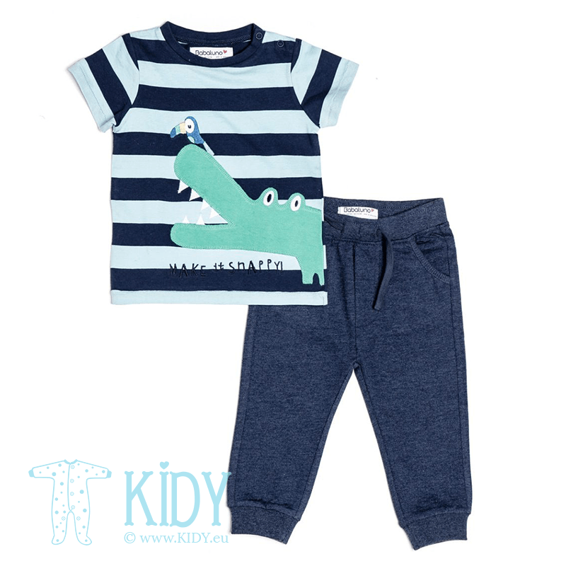 Navy SAFARI set: T-shirt + jogpants
