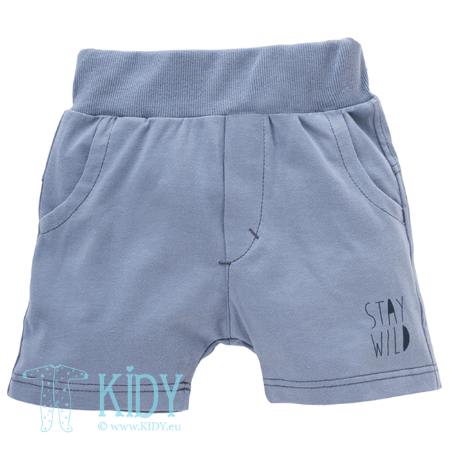 Grey WILD BOY shorts