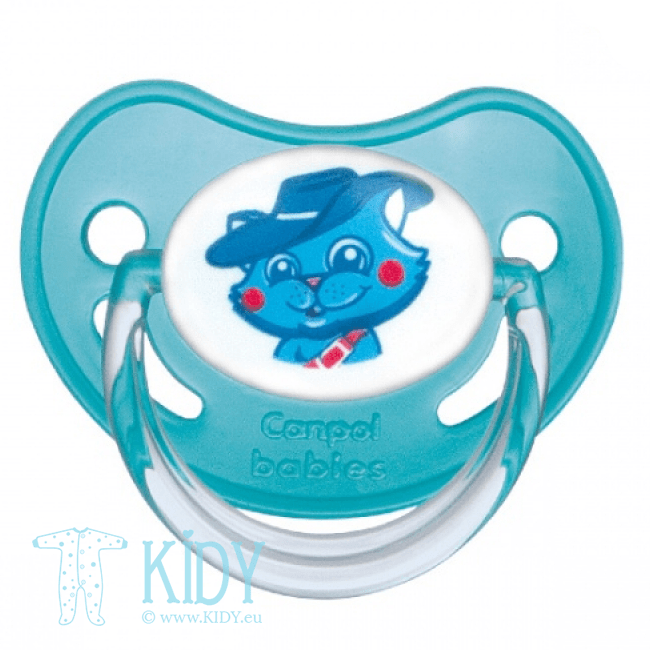 Blue silicone orthodontic SAFARI soother