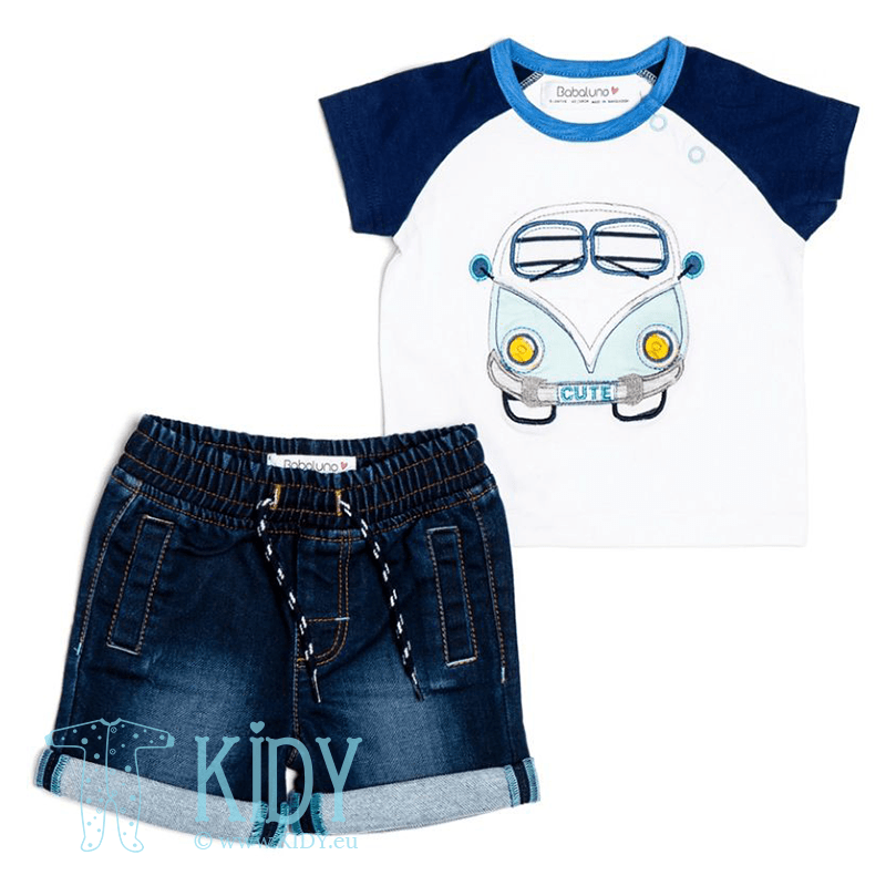 Navy OCEANSIDE set: T-shirt + shorts
