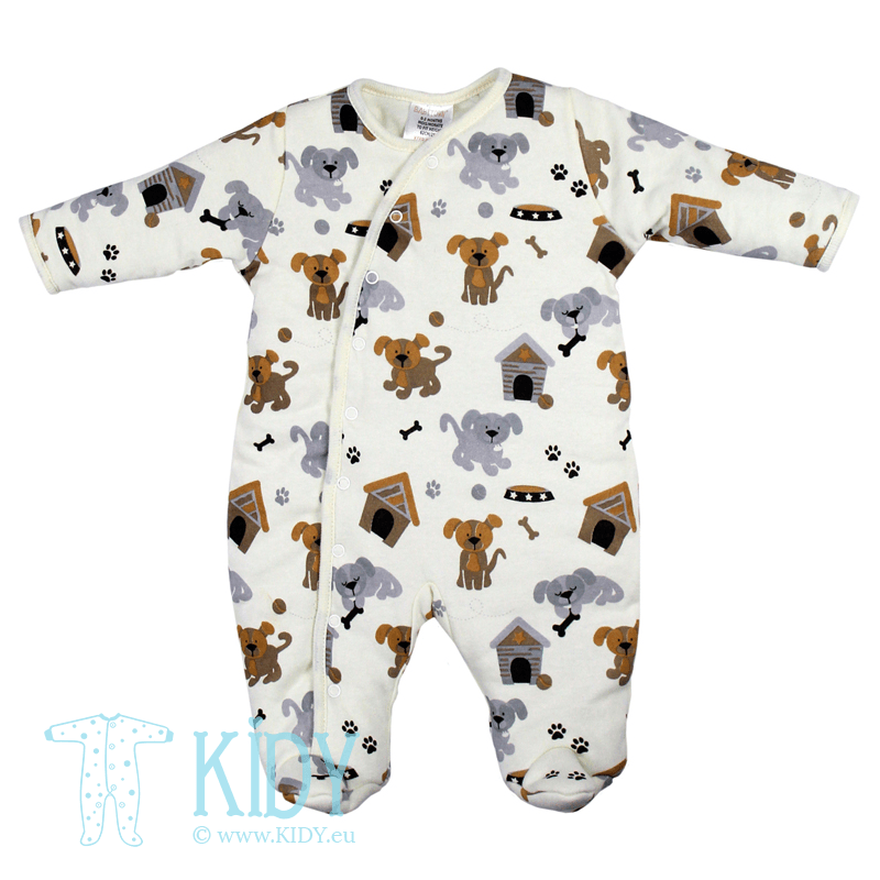 Padded PUPPY sleepsuit