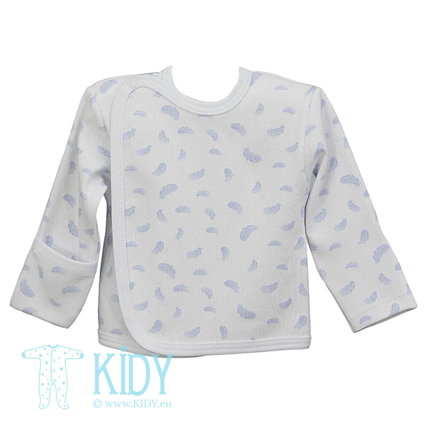 Blue KIKI easy shirt with mitts