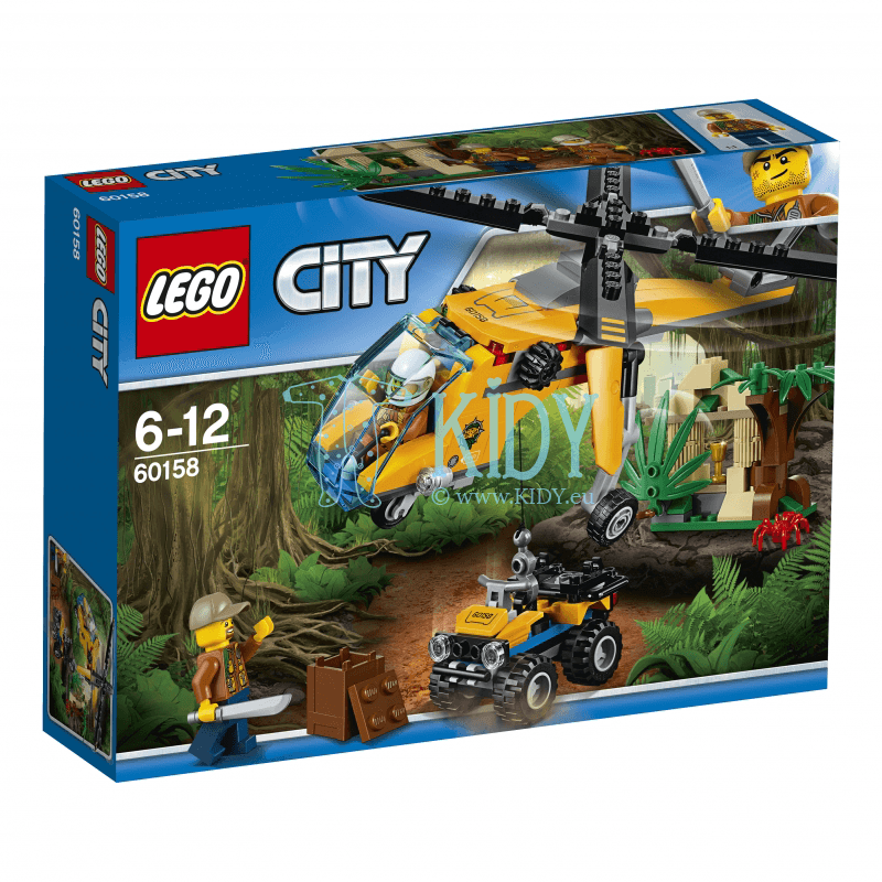 Исследователи джунглей LEGO City Jungle Explorers Jungle Cargo Helicopter