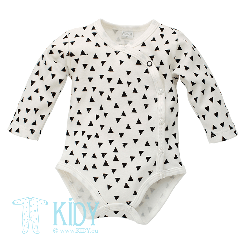 Ecru HAPPY DAY kimono bodysuit with triangles
