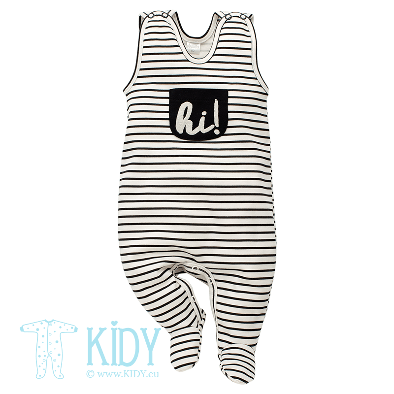 Striped HAPPY DAY dungaree