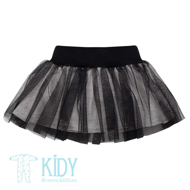 Black HAPPY DAY skirt