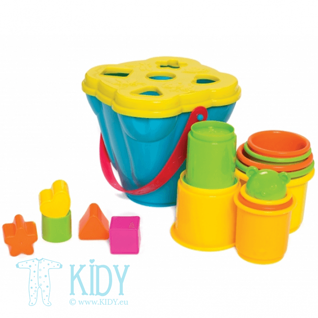 Shape Sorting and Stacking Buckets