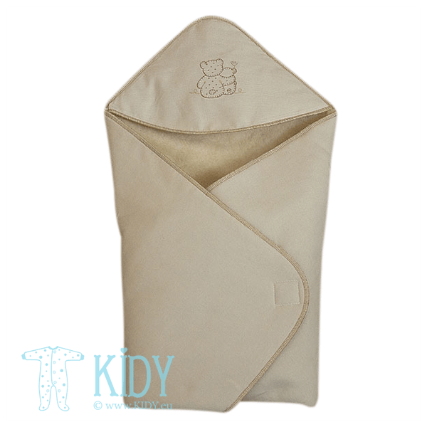 Beige POPSI swaddle blanket for winter