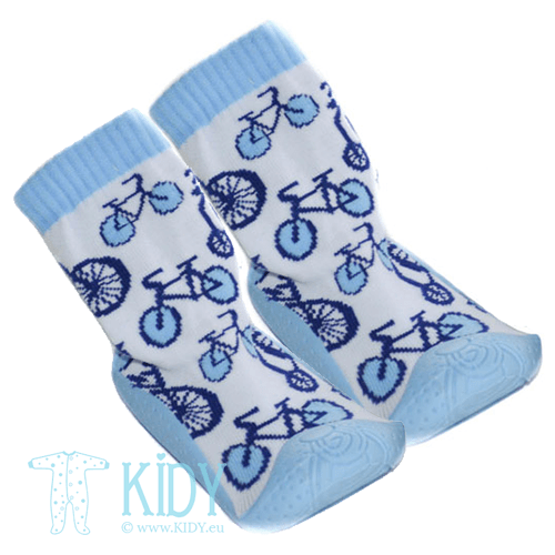 Blue rubber soled SNEAKERS socks