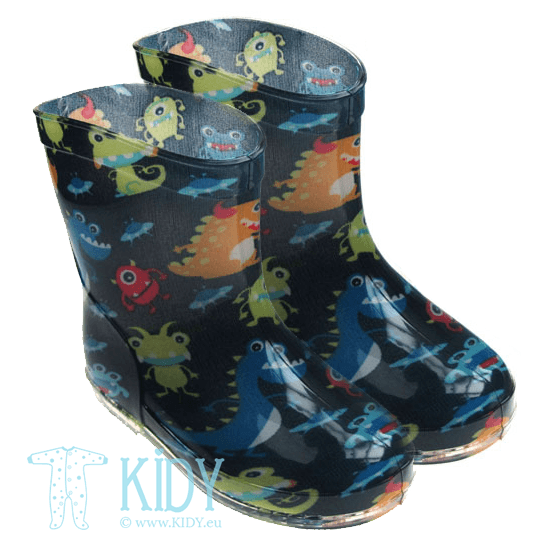 Navy MONSTER rain boots