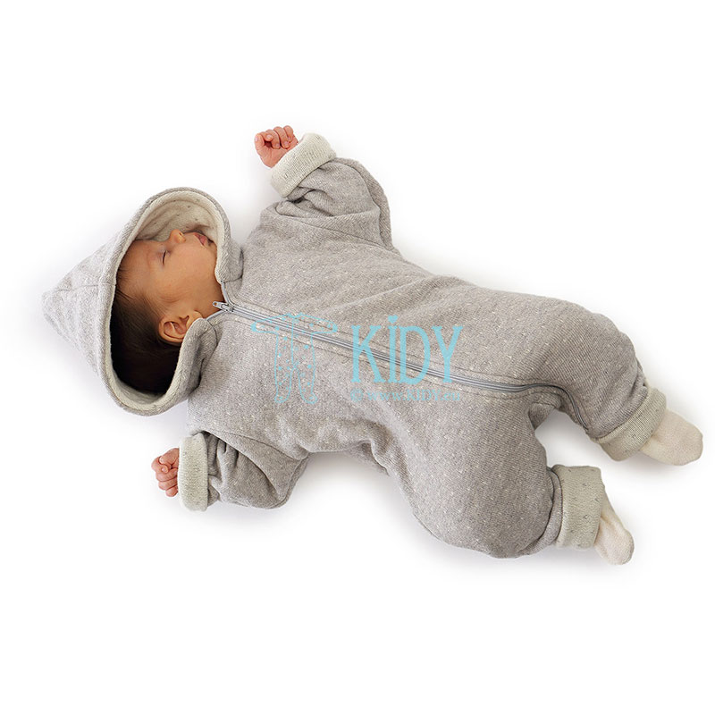 Grey LENNY merino wool overall