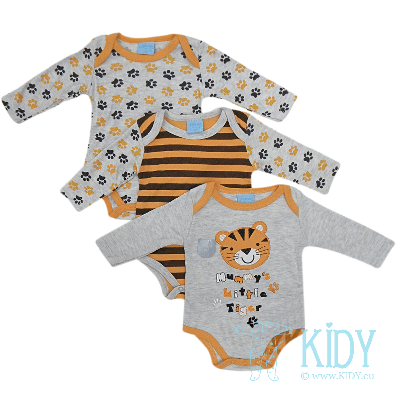 TIGER set: 3 bodysuits