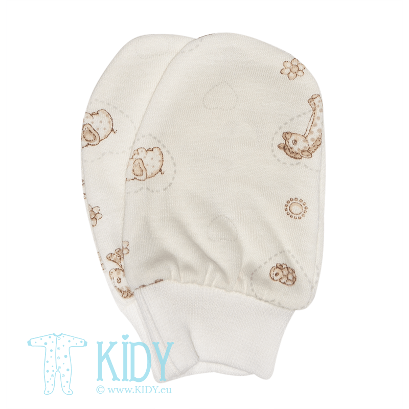 Creamy MINI ZOO anti scratch mitts