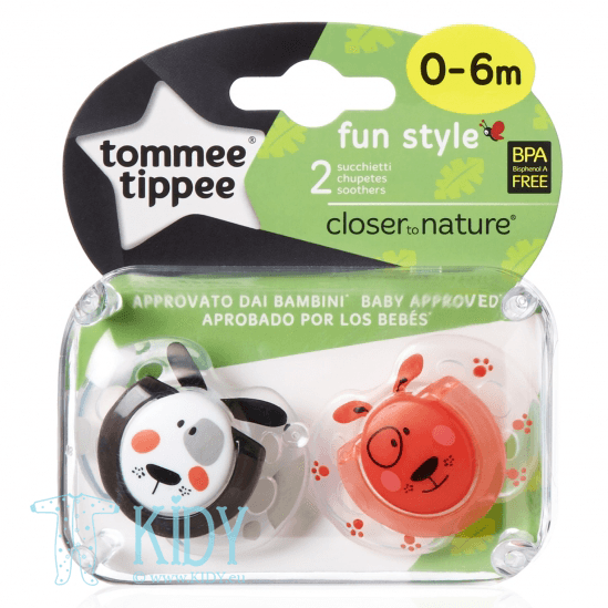 Silicone orthodontic FUN STYLE soother (Tommee Tippee)