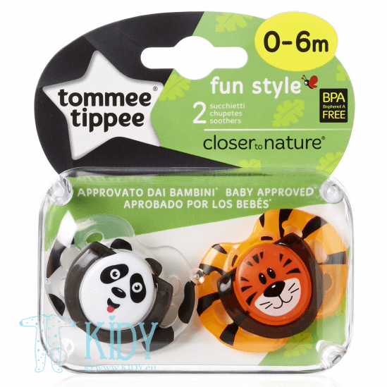 Silicone orthodontic FUN STYLE soother