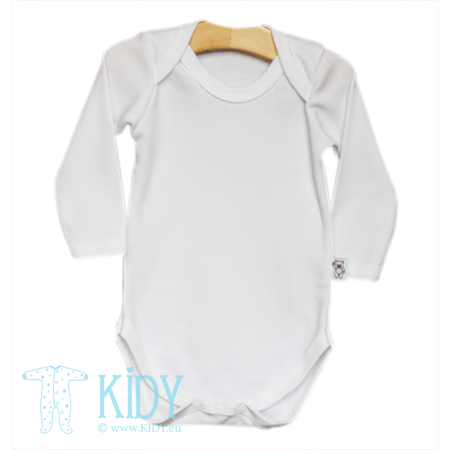 White PLAIN long sleeved bodysuit