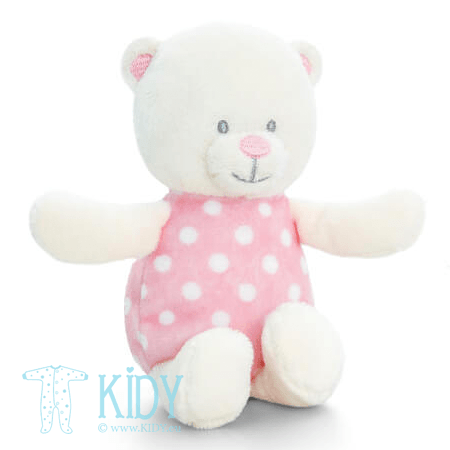 Pink BABY BEAR soft rattle