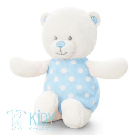 Blue BABY BEAR soft rattle