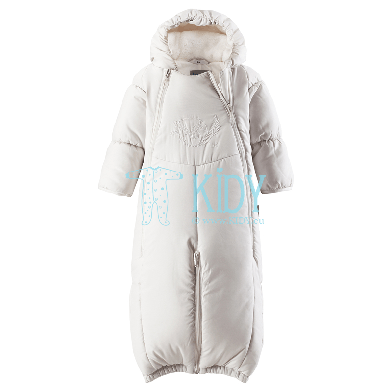 White FOX winter overall transformer with anti-scratch mitts (Lassie by Reima)