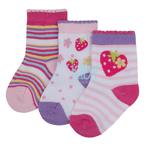 3 pack WILD STRAWBERRY socks