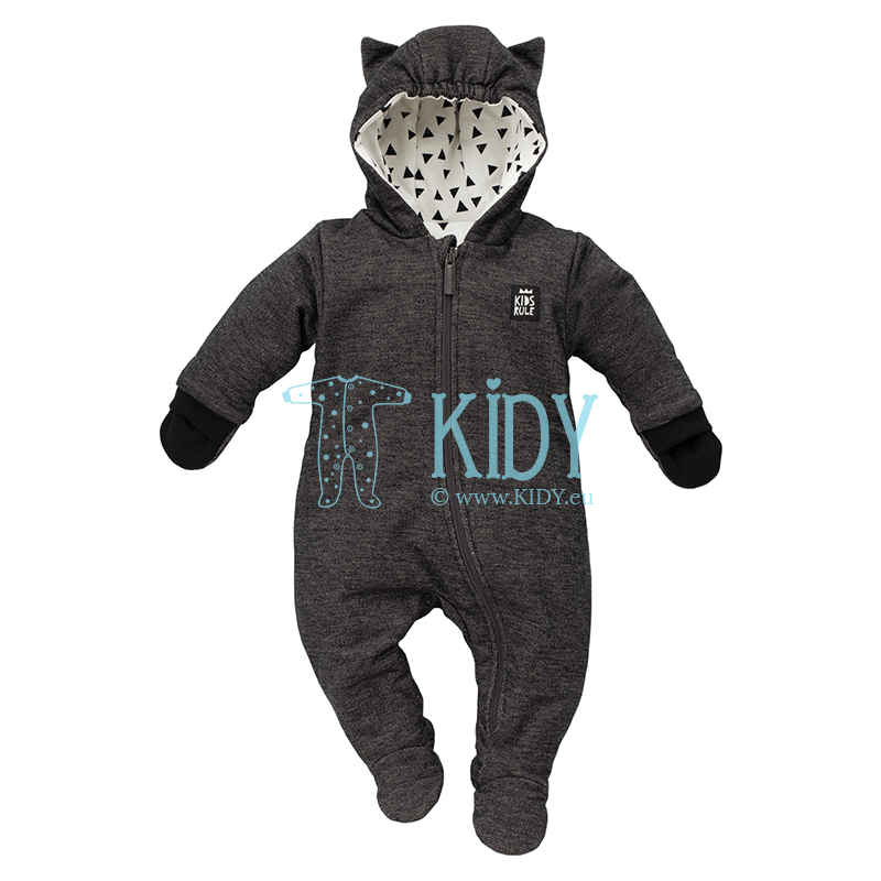 Black HAPPY DAY snowsuit