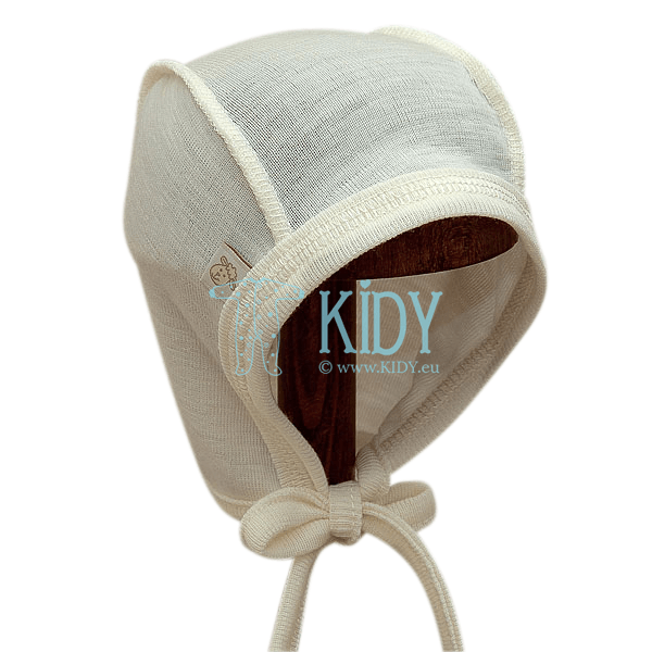 Kreminė merino vilnos kepurė LAMB