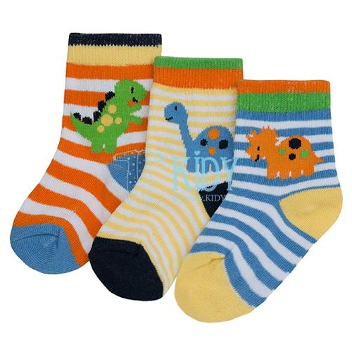 3 pack DINO socks
