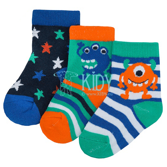 3 pack MONSTER socks