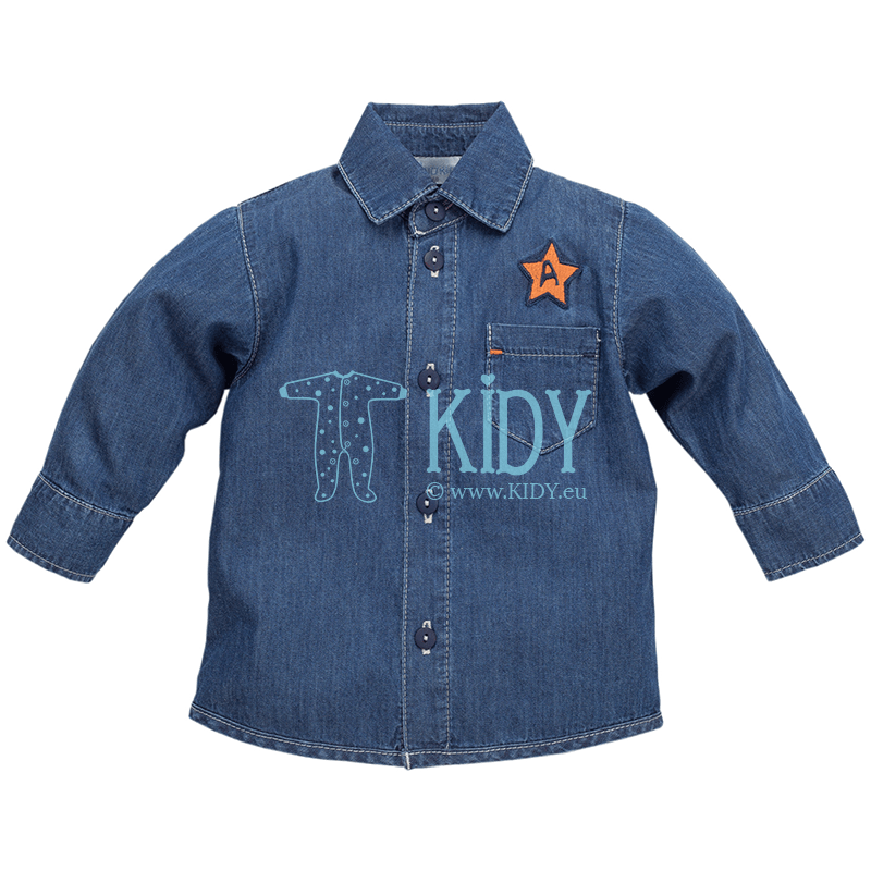 Navy XAVIER denim shirt