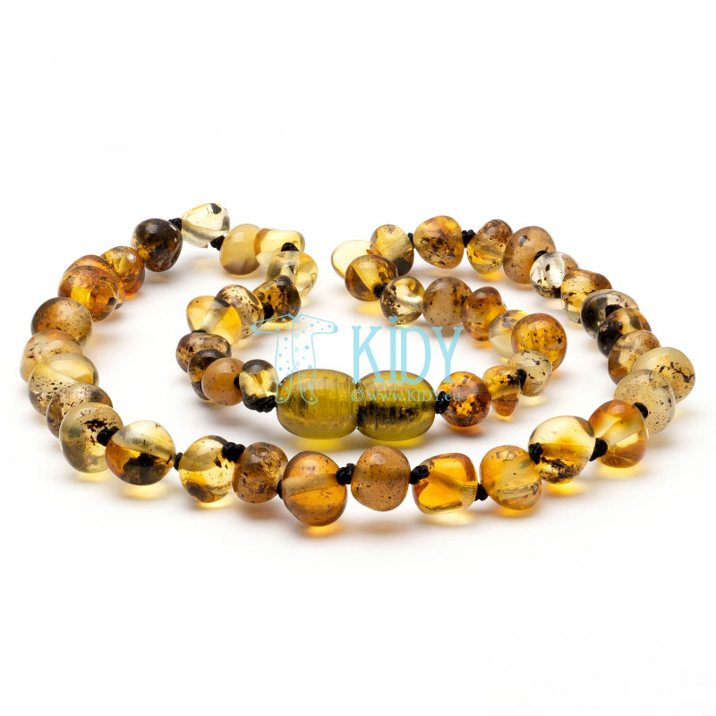 Amber GREEN teething necklace