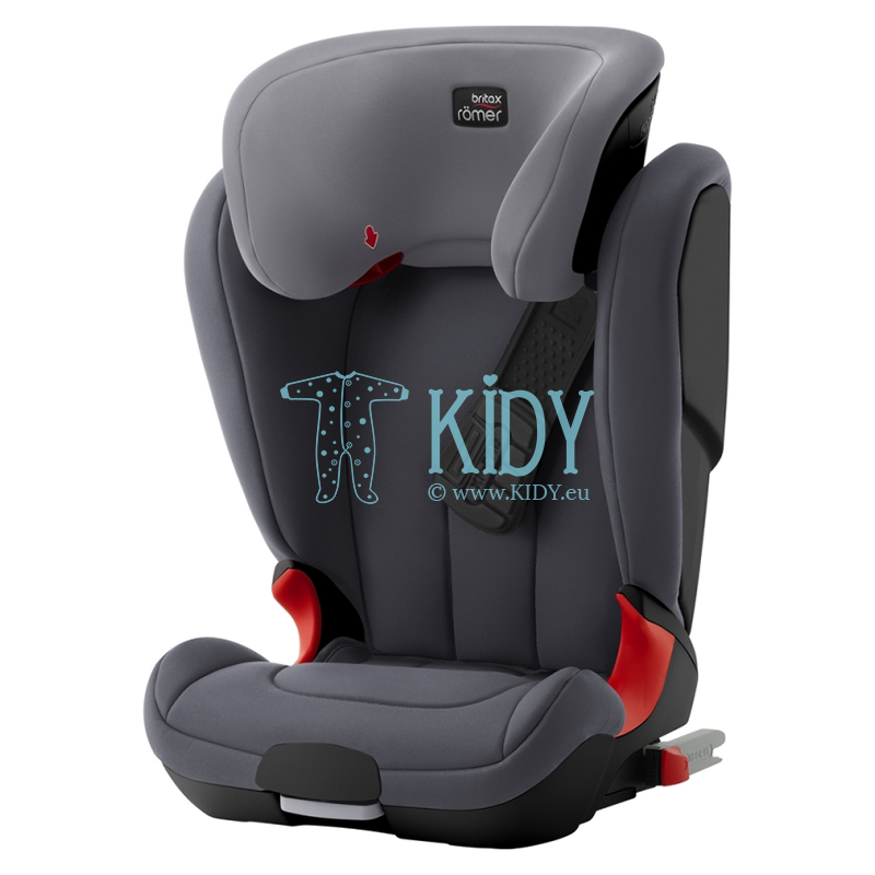 Automobilinė kėdutė Kidfix XP Black Series Storm Grey