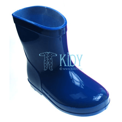 Blue PLAIN rainboots