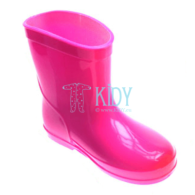 Pink PLAIN wellington boots