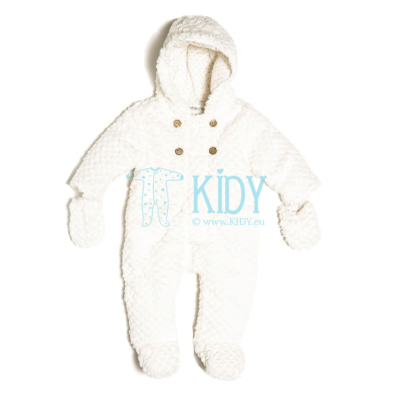 White BUNNY snowsuit with mittens